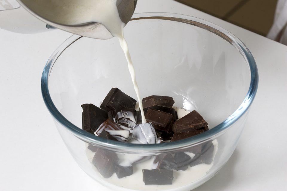 Préparation de la ganache au chocolat