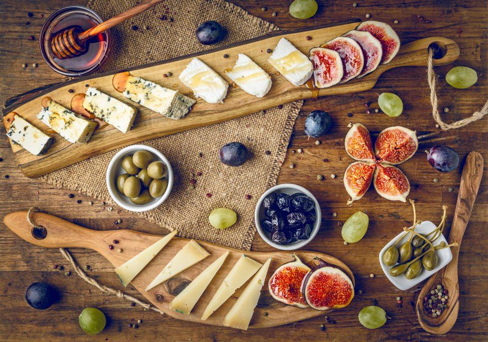 plateau de fromage et miel