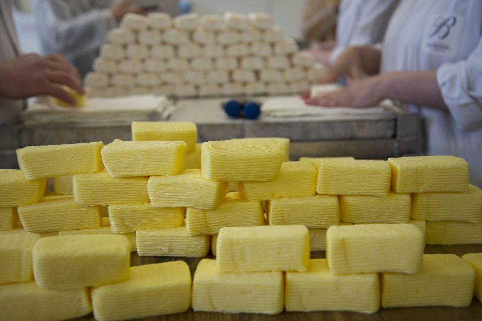 façonnage des mottes de beurre