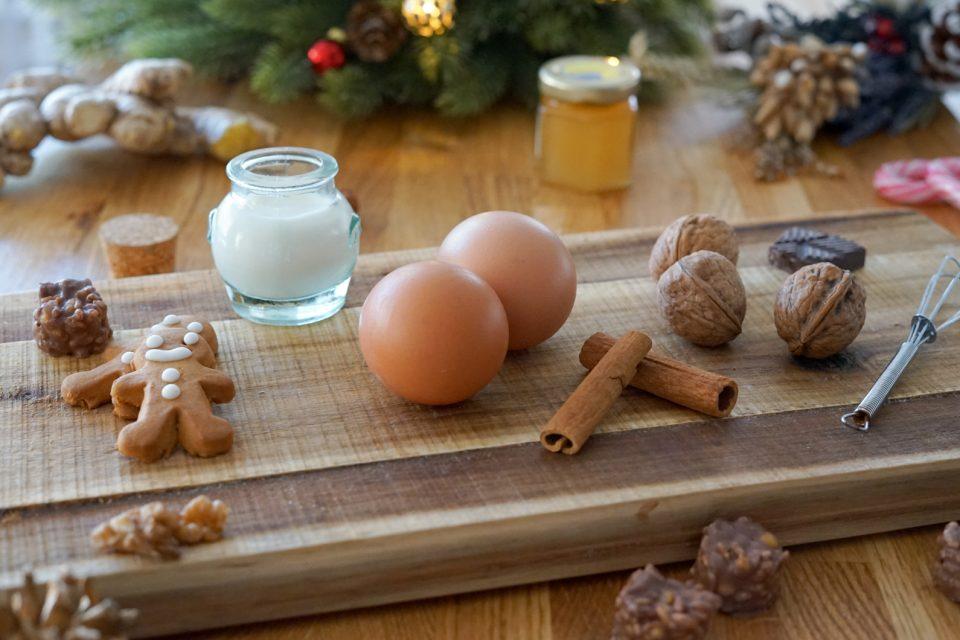 ingrédients du lait de poule de Noël
