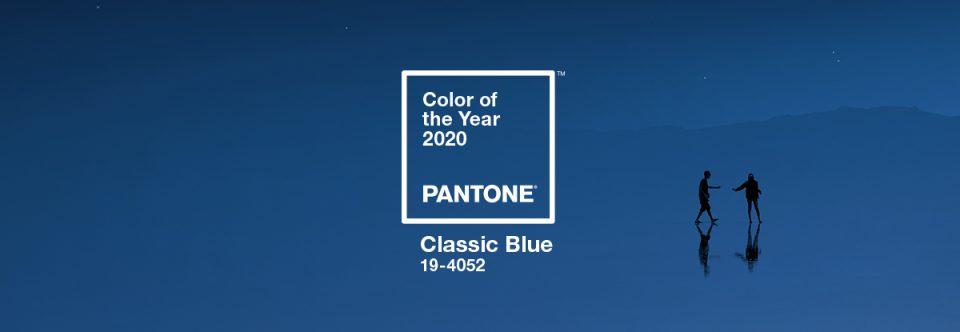 la couleur pantone de l'année 2020 : Classic blue 19-4052