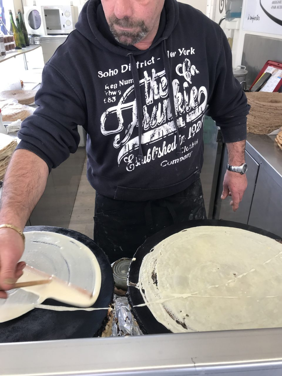 preparation des crepes