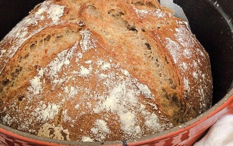 cuisson du pain à la cocotte