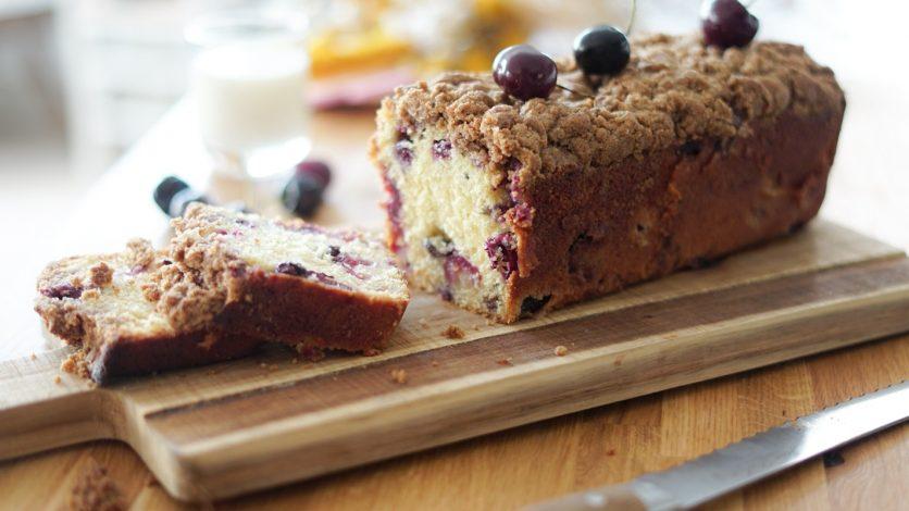 Recette cake crumble cerises
