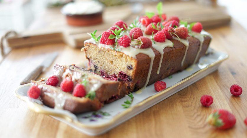 Cake Framboise choco à la crème