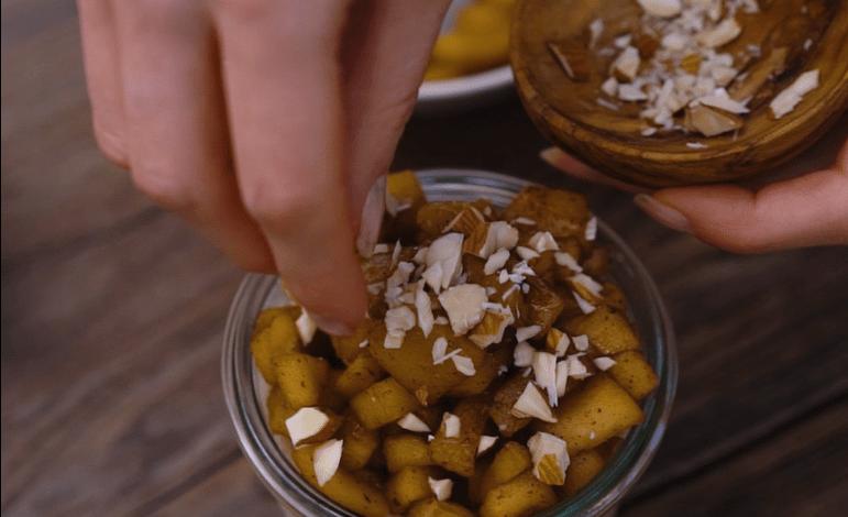 Porridge sans cuisson saveur pomme cannelle by HealthyClemsy