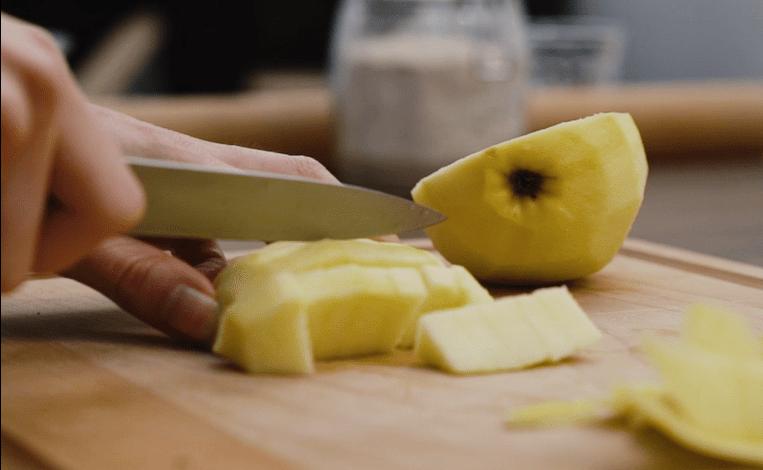 Porridge sans cuisson saveur pomme cannelle