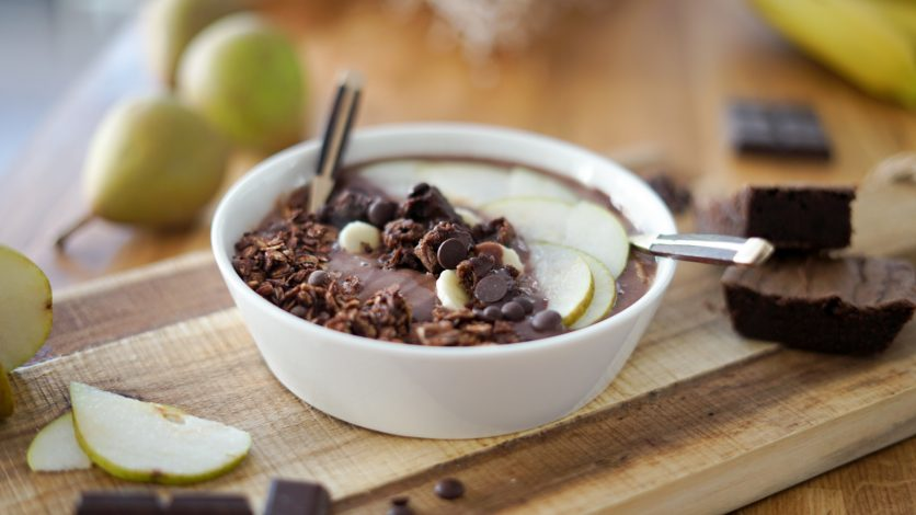 Smoothie bowl façon brownie