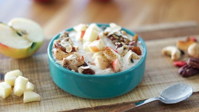 Recette de smoothie bowl aux pommes