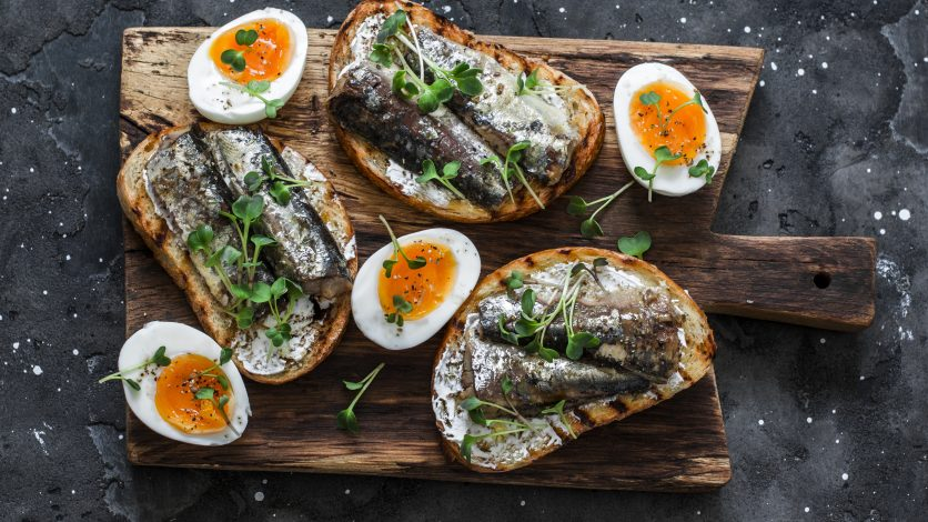 tartines à la sardine