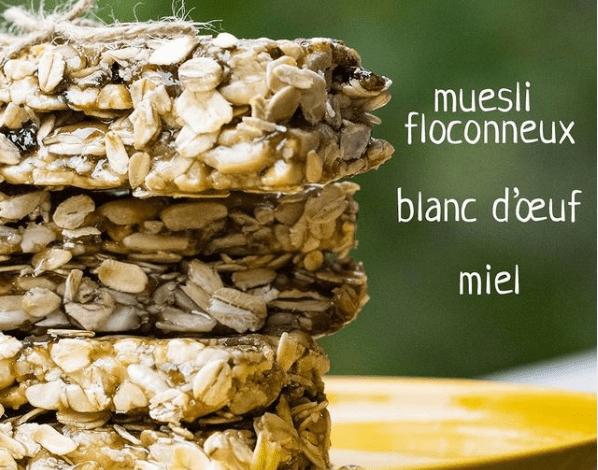 Barre crunchy au muesli